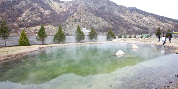 RUPITE NEAR PETRICH BULGARIA – THE HOT MINERAL WATER SPRINGS